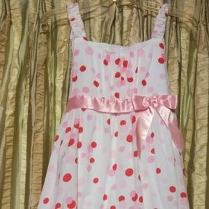Bonnie Jean Pink Dot Girls Dress